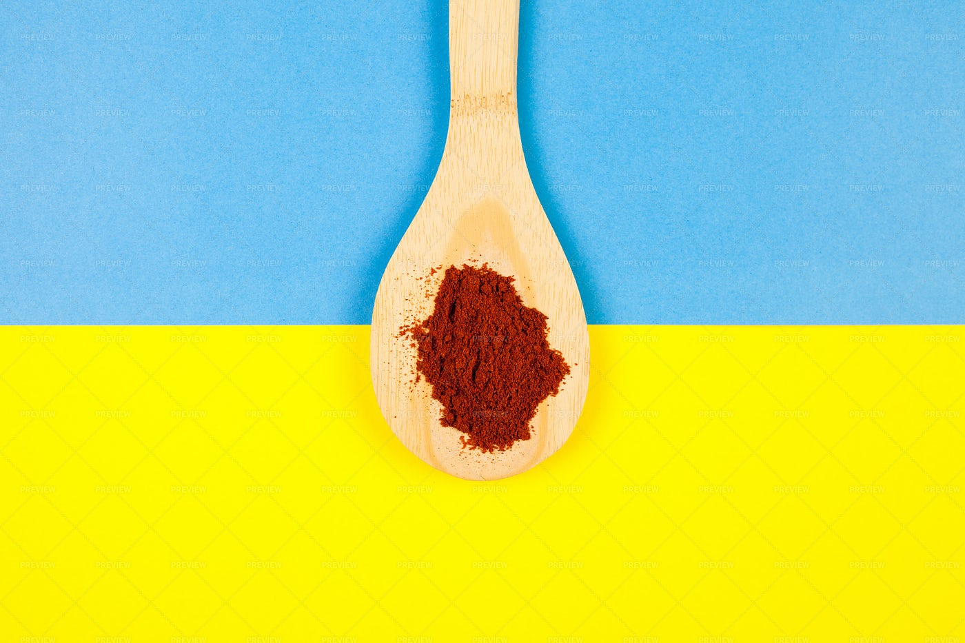 Wooden Spoon With Chili Powder: Stock Photos