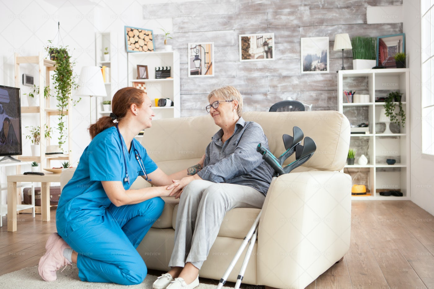 At Home Recovery Help: Stock Photos
