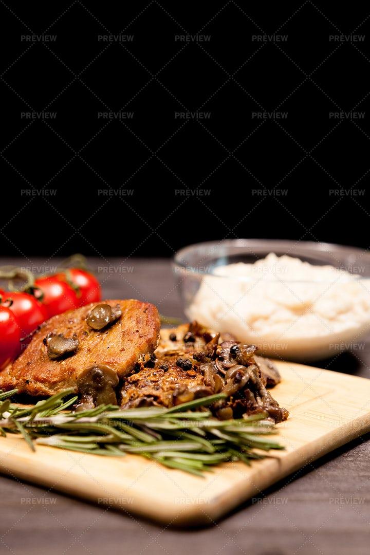 Grilled Pork Steak: Stock Photos