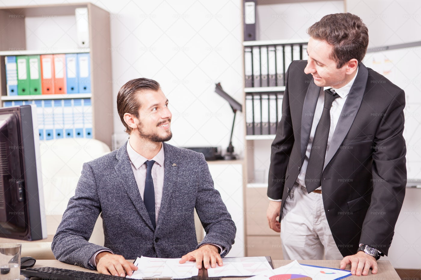Colleagues In The Office: Stock Photos