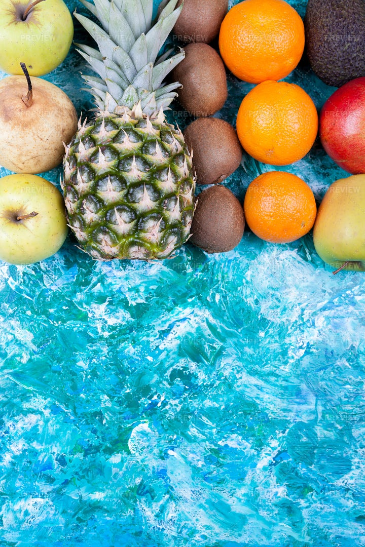 Fruits And Blank Space: Stock Photos