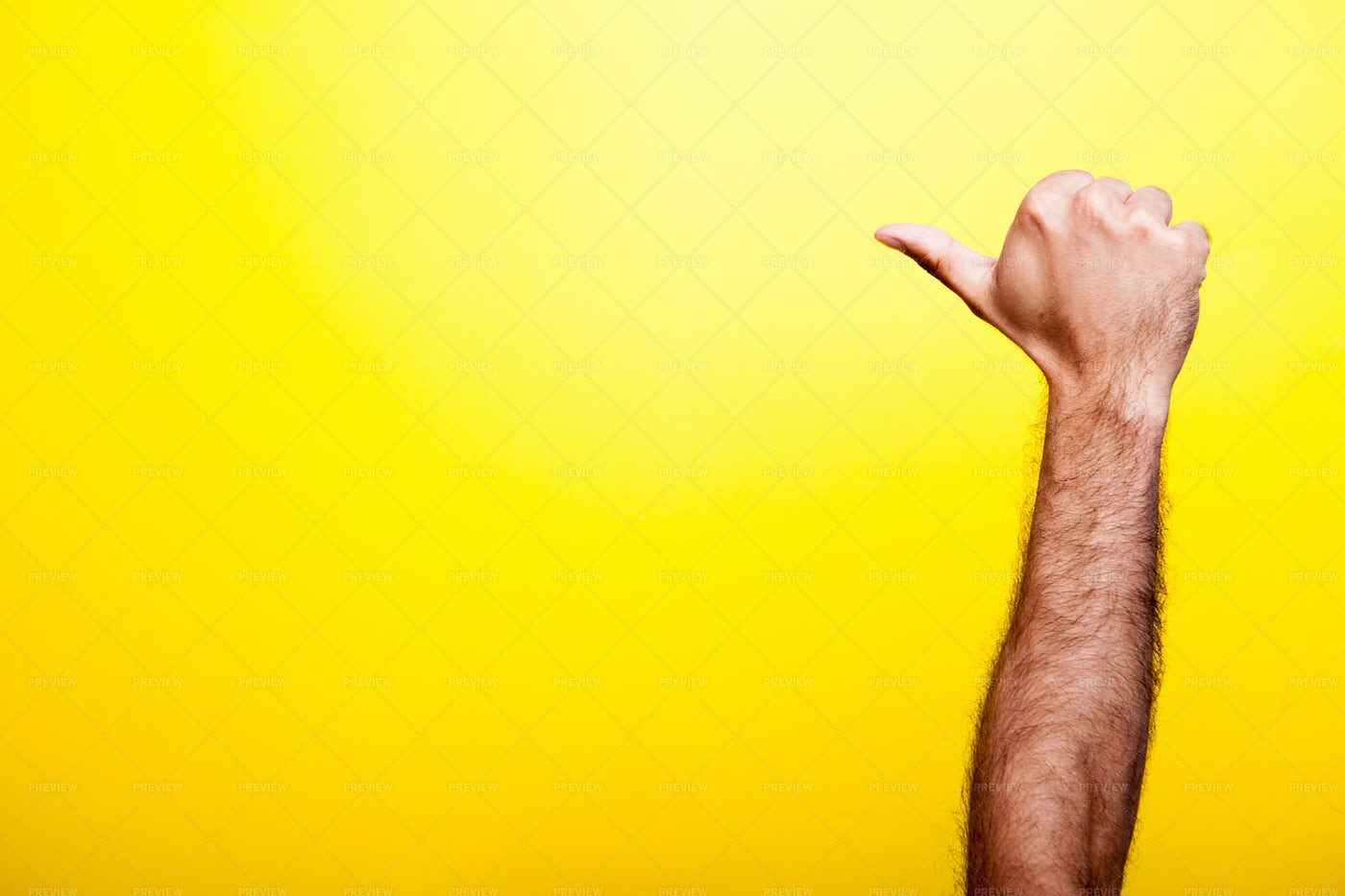 Male Hands Showing A Thumb Up Sign: Stock Photos