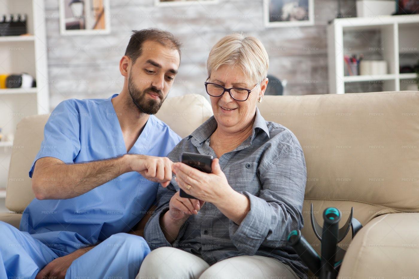Setting Up Healthcare App: Stock Photos