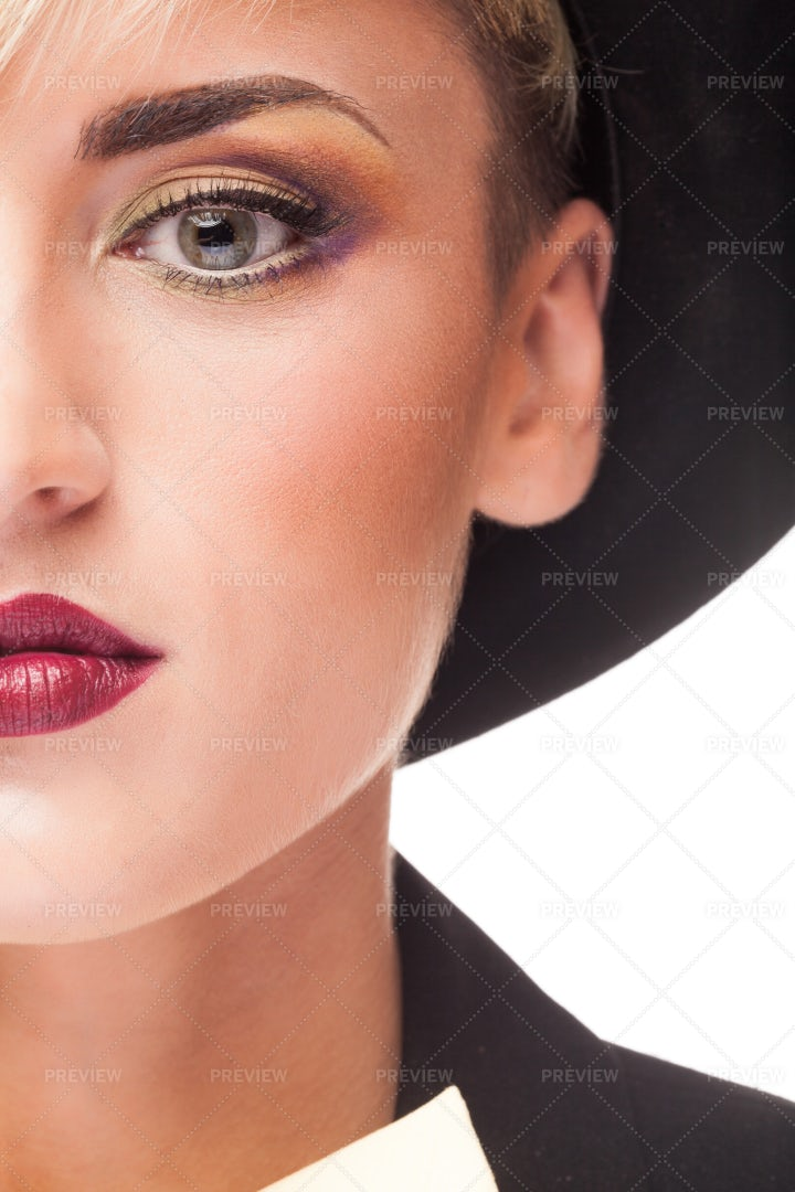 Stylish Makeup And Clothes: Stock Photos