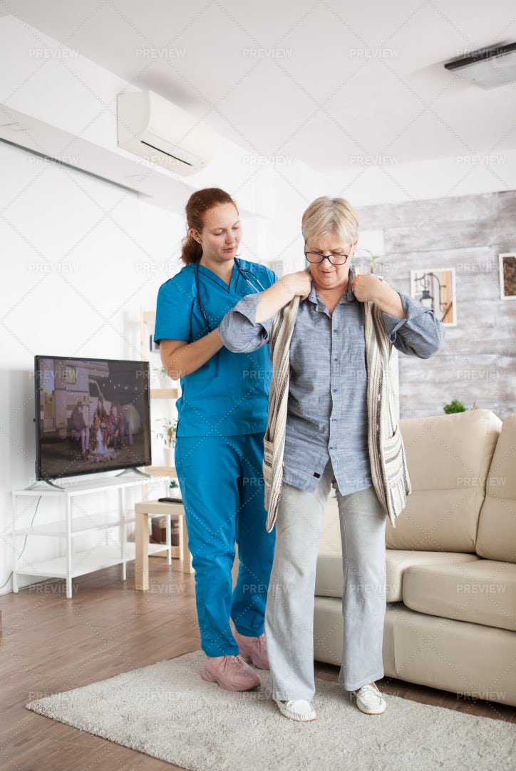 Assisted Living Helper: Stock Photos