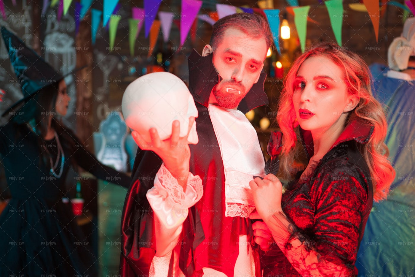 Playing Vampires: Stock Photos