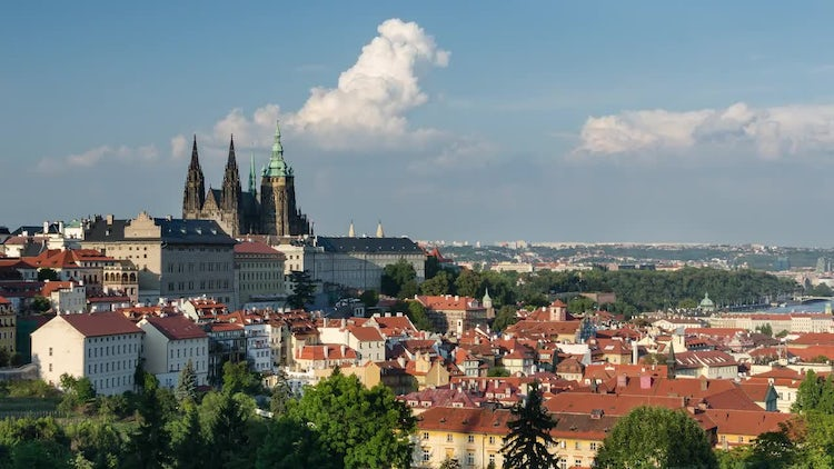 4K Prague Castle Timelapse: Stock Video