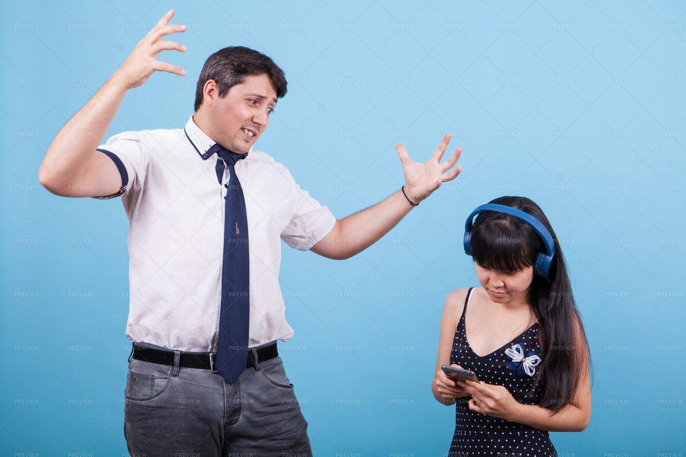 Man Angry At Woman: Stock Photos