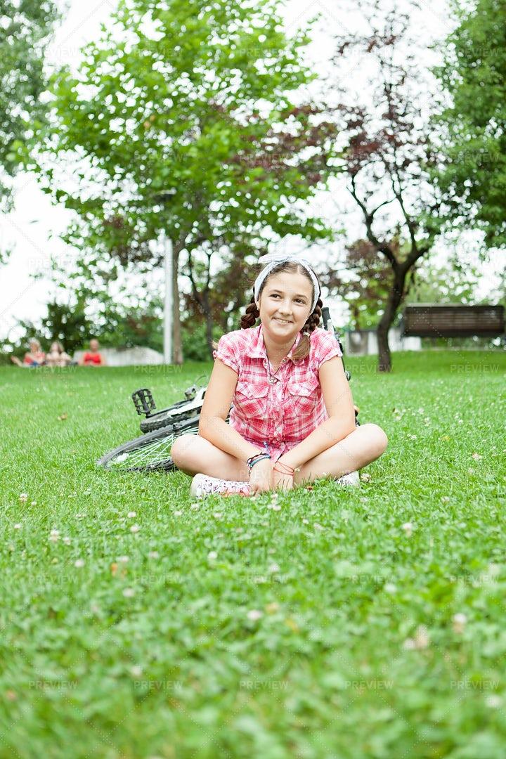 Teen In A Park: Stock Photos