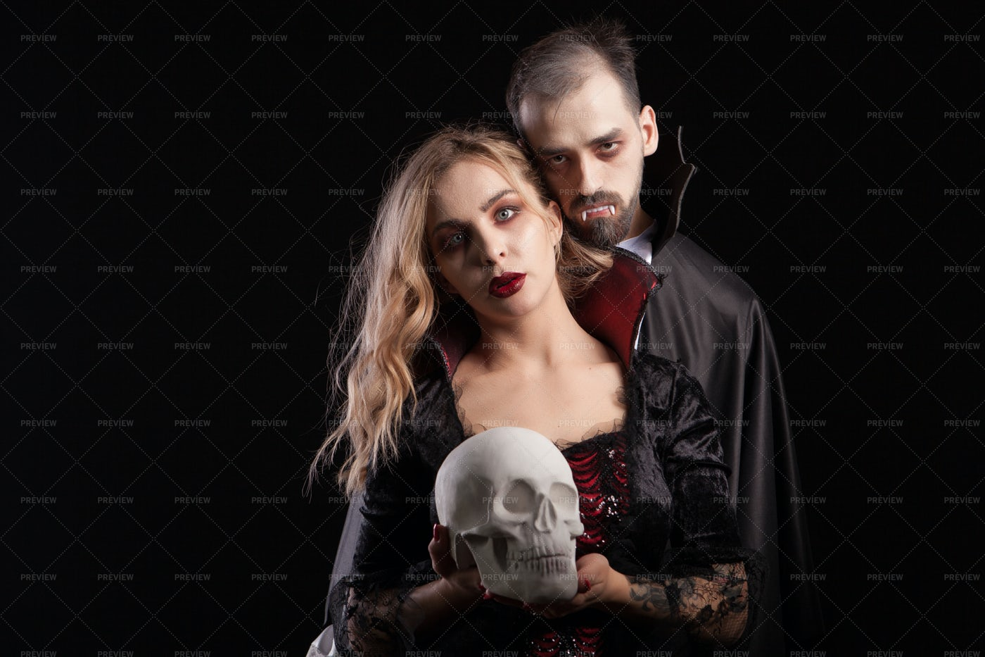 Vampiric Couple: Stock Photos