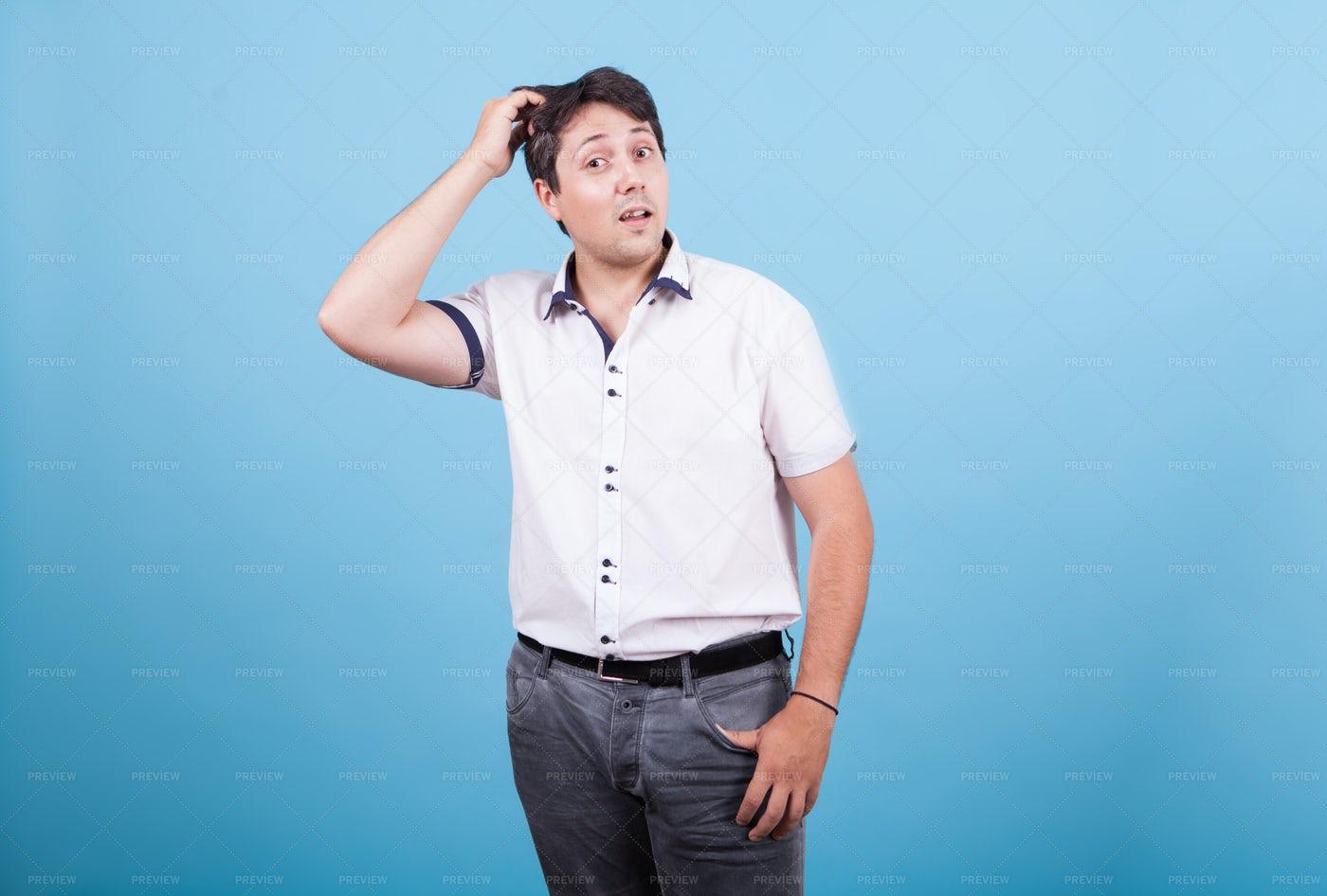 Man Scratching His Head: Stock Photos