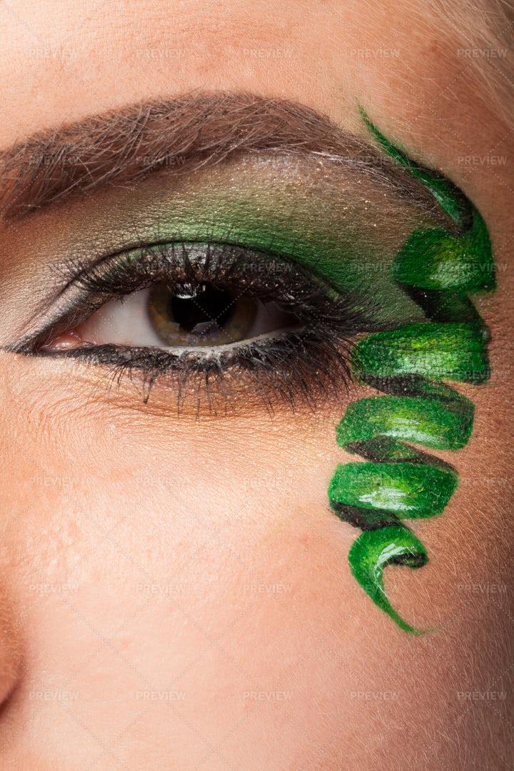 Artistic Eye Makeup: Stock Photos