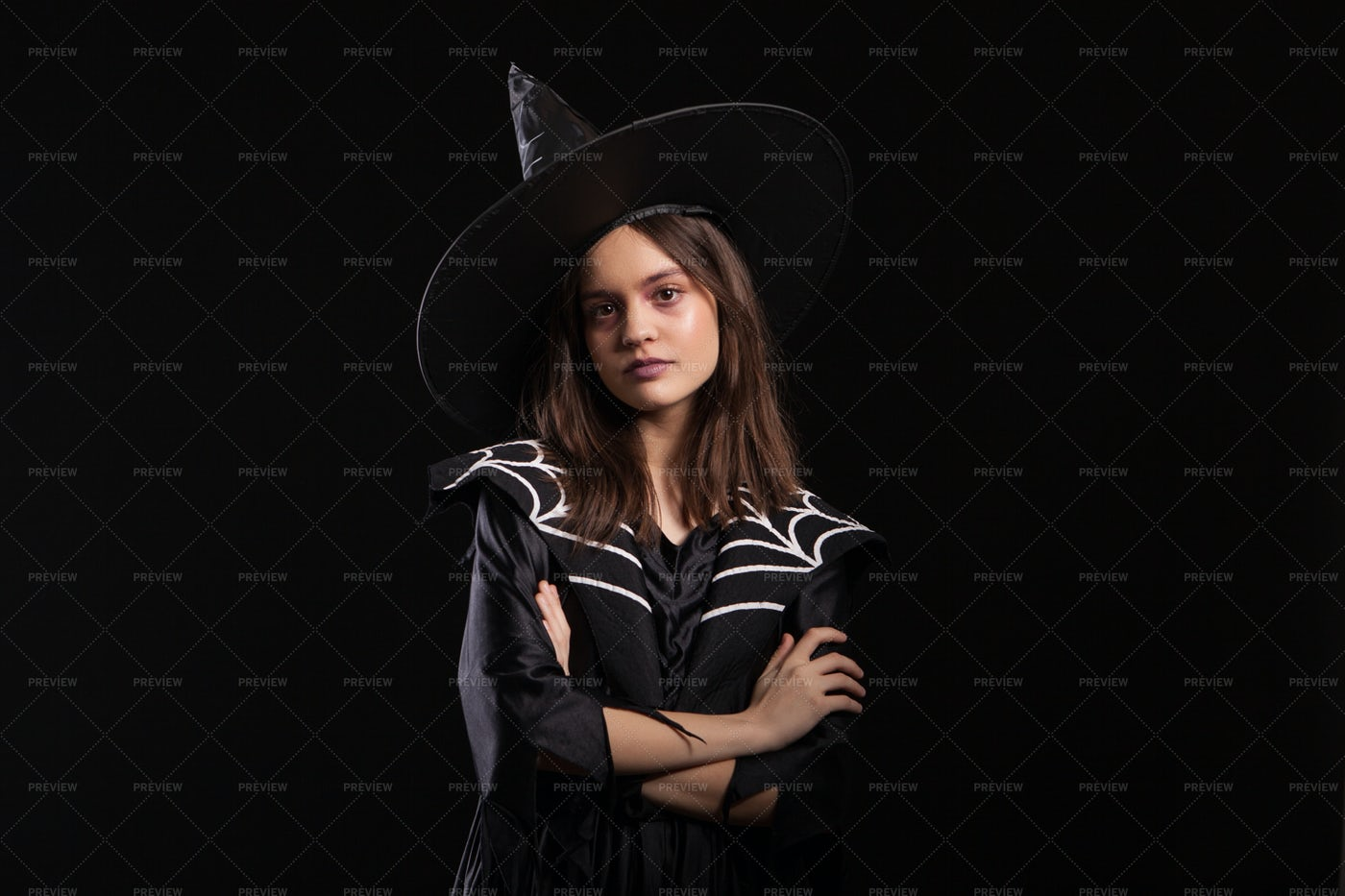 Spider Witch Costume: Stock Photos