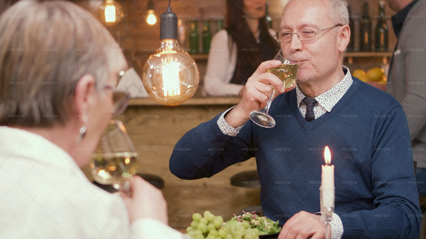 Older Couple On Romantic Date: Stock Photos