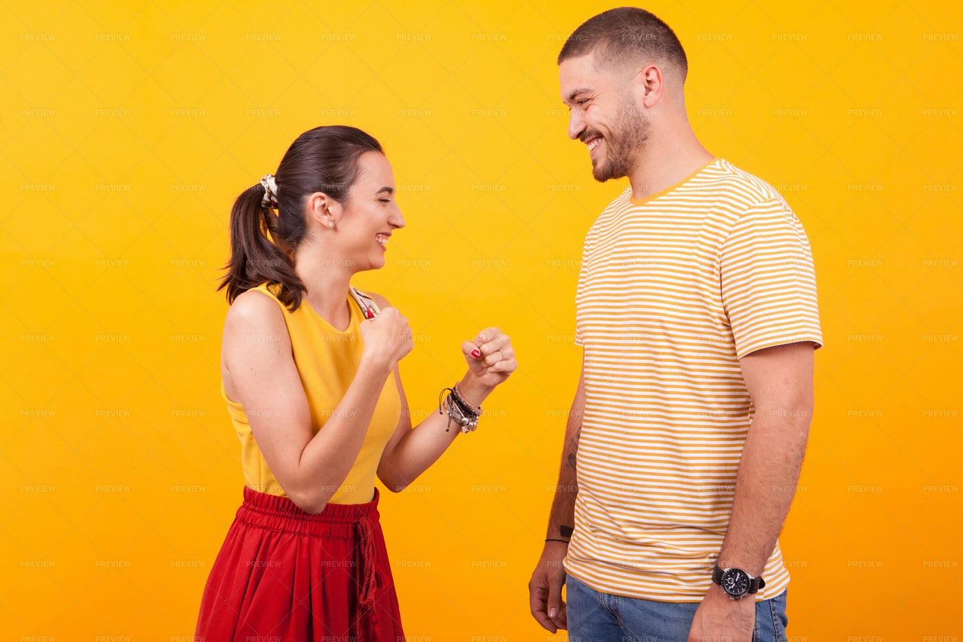 Play Fighting Couple: Stock Photos