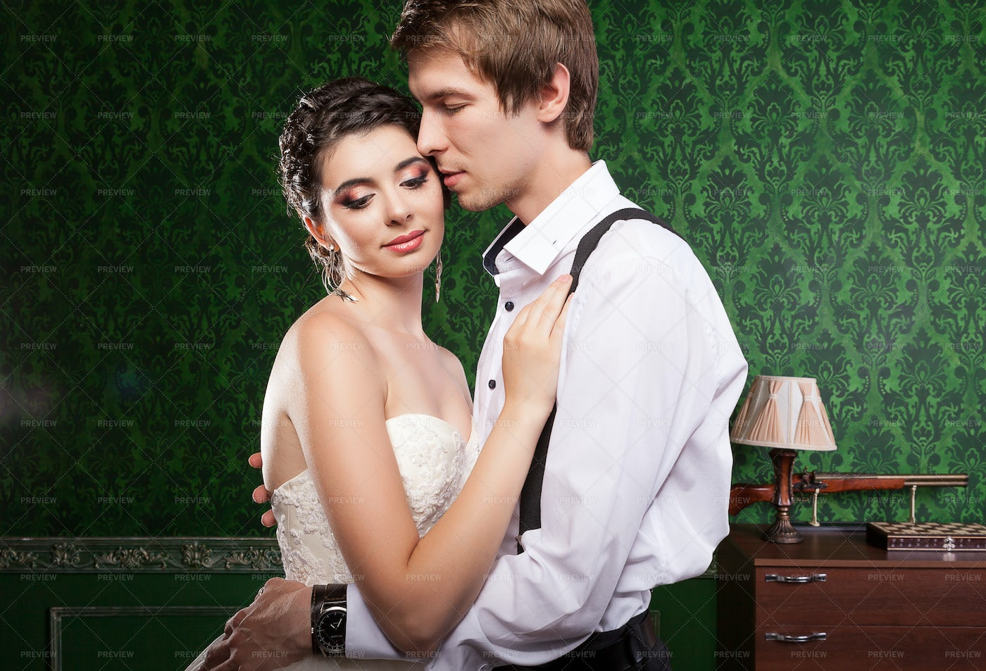 Happy Just Married Couple: Stock Photos