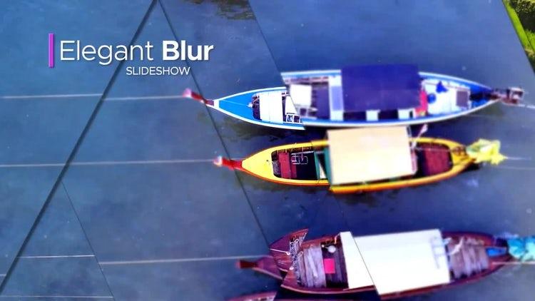 Elegant Blur Slideshow: After Effects Templates