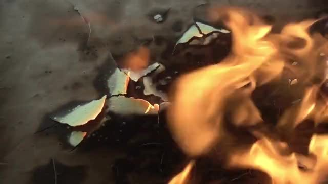 Background With Fire: Stock Video