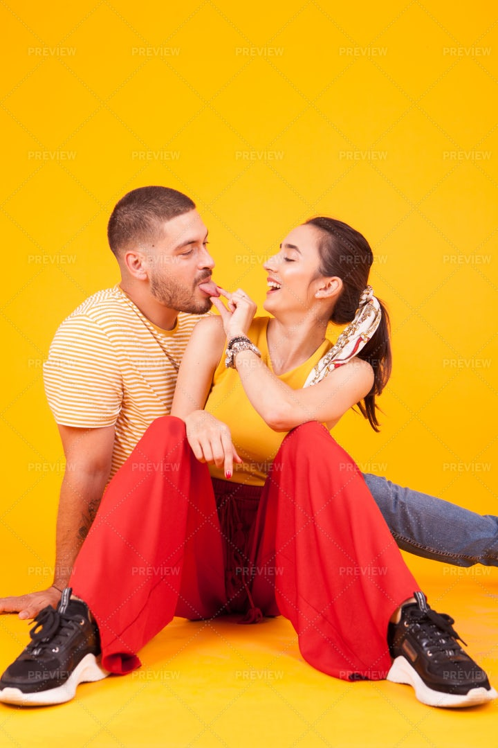 Couple Acting Silly: Stock Photos