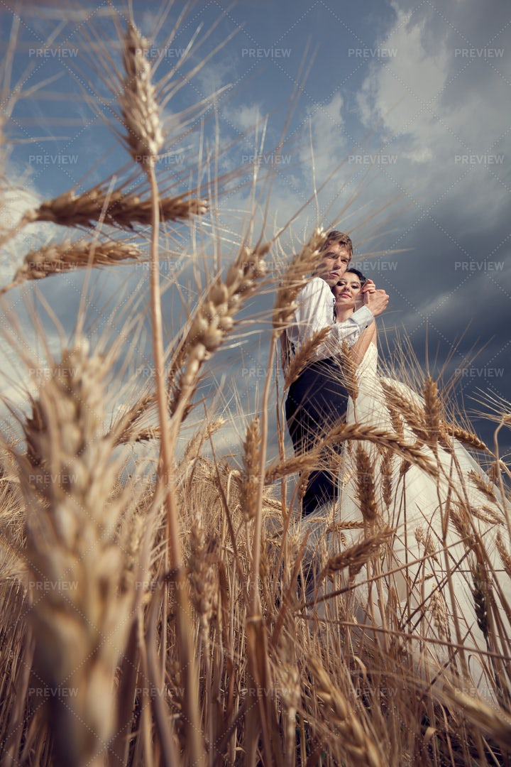 Married Couple On Farm: Stock Photos