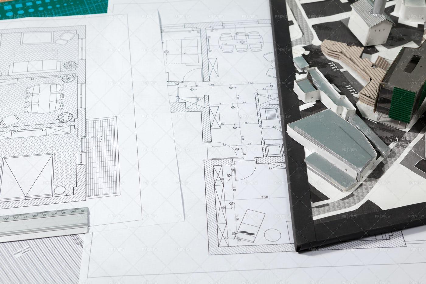 An Architect's Documents: Stock Photos