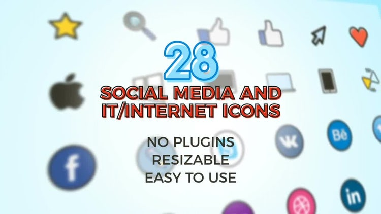 Social, IT Icons Pack: After Effects Templates
