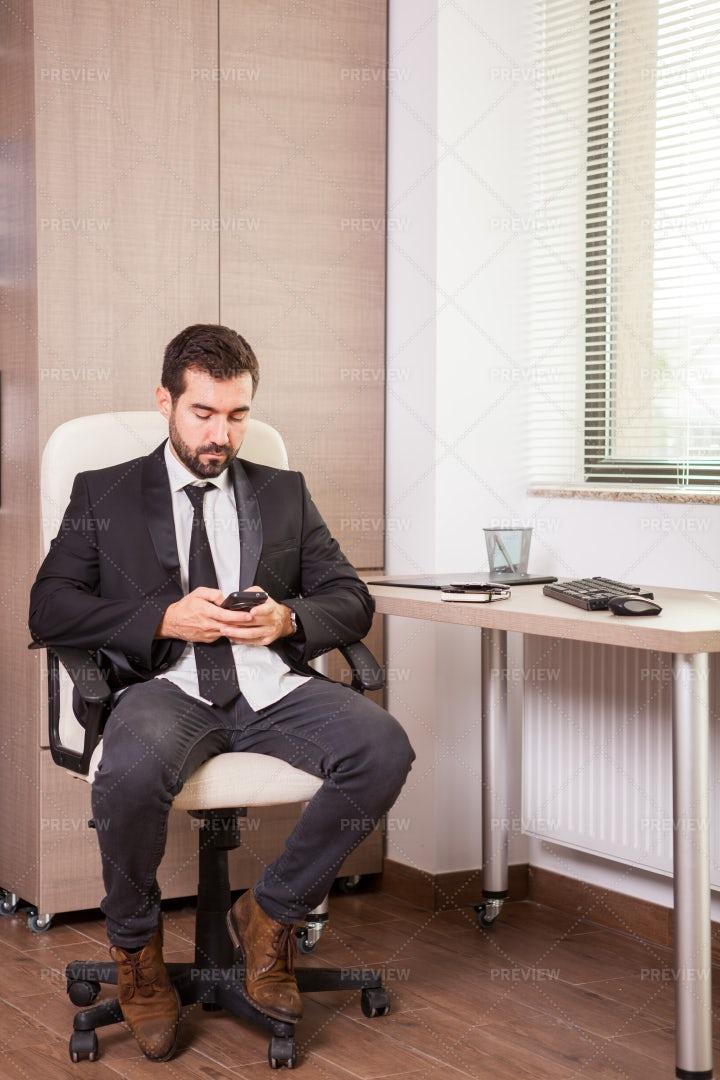 Businessman On His Phone: Stock Photos