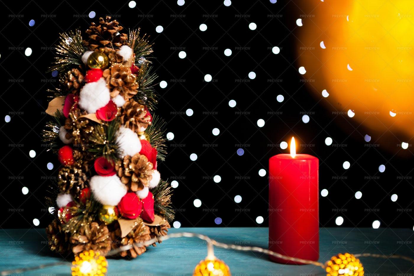 Mini Christmas Tree: Stock Photos