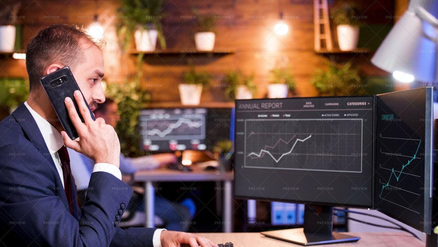 Discussing Statistics: Stock Photos