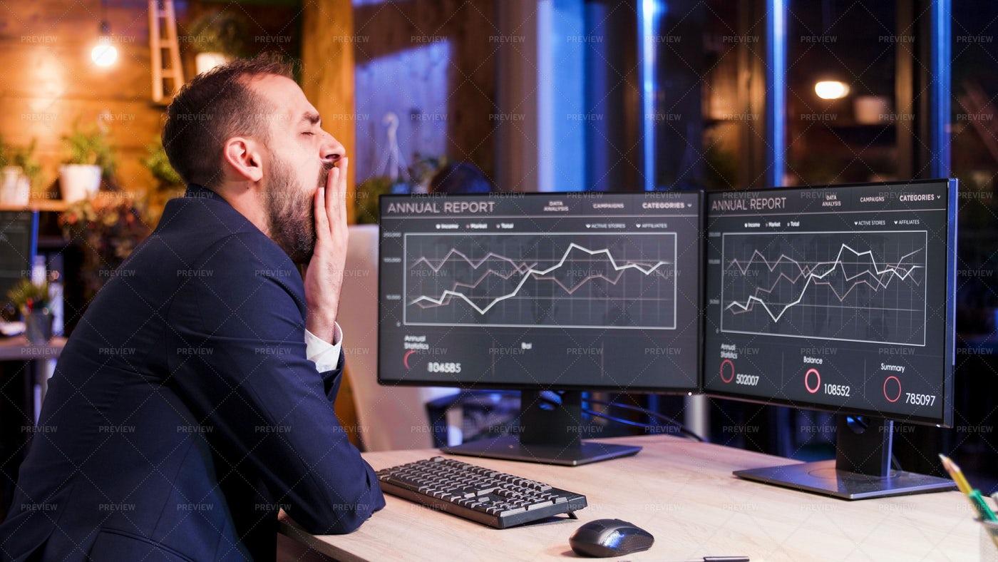 Overworked Businessman: Stock Photos