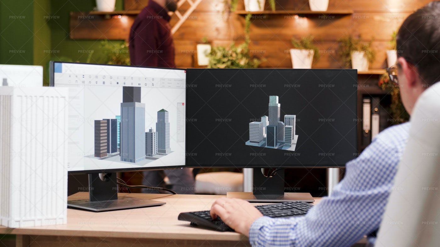 Male Architect At Work: Stock Photos