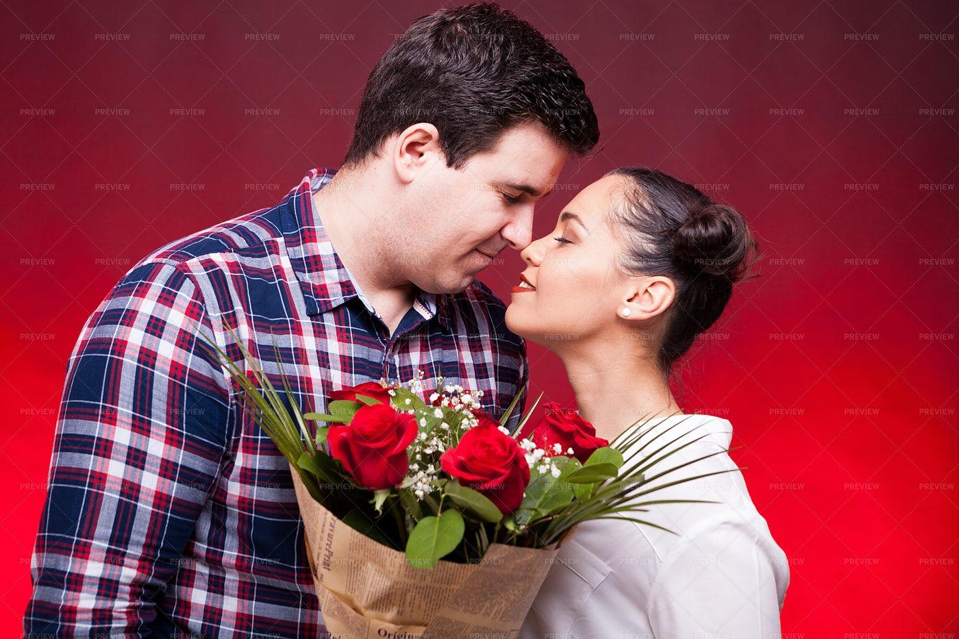 Valentine's Day Couple: Stock Photos