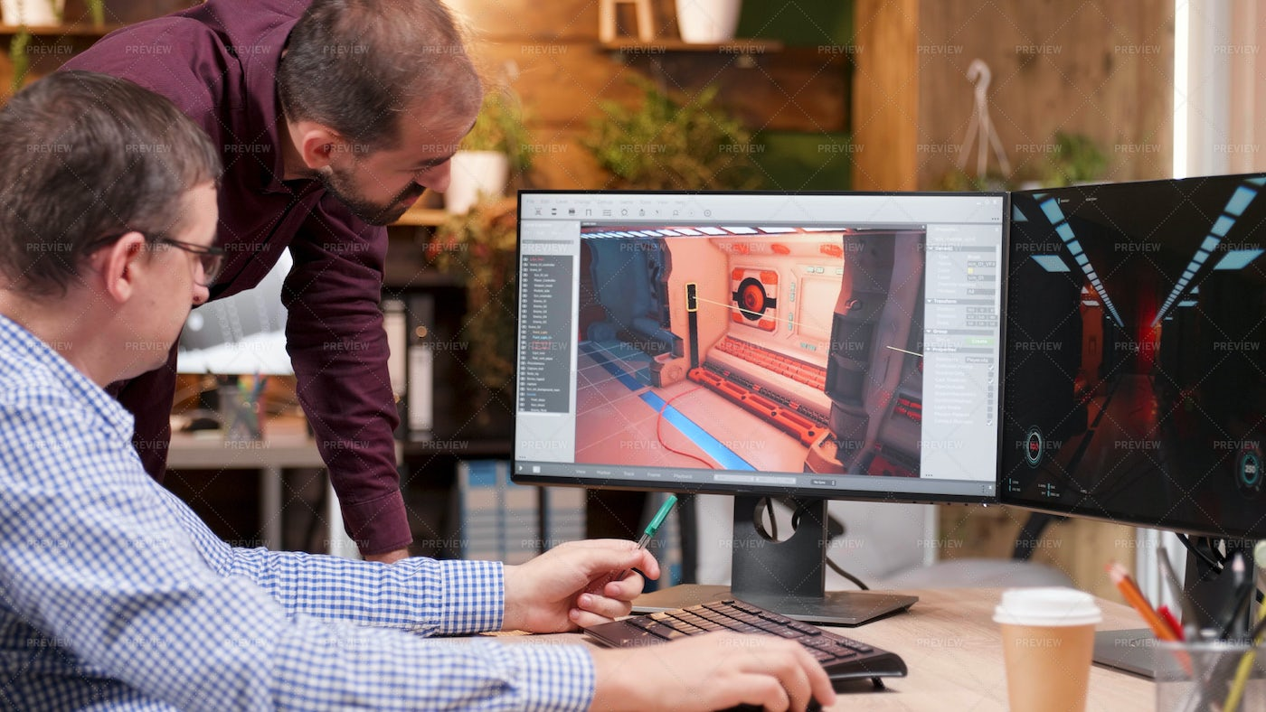 Graphic Designer In Gaming Industry: Stock Photos