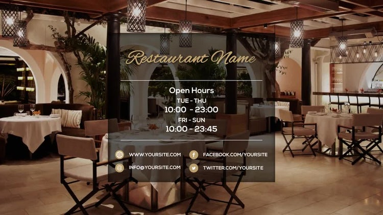 Modern Restaurant Presentation: After Effects Templates