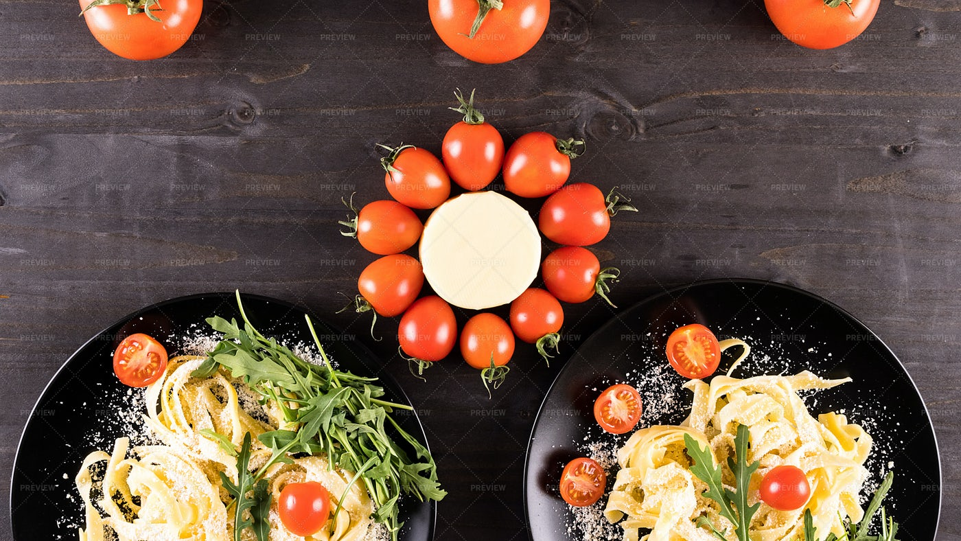 Italian Pasta With Parmesan: Stock Photos