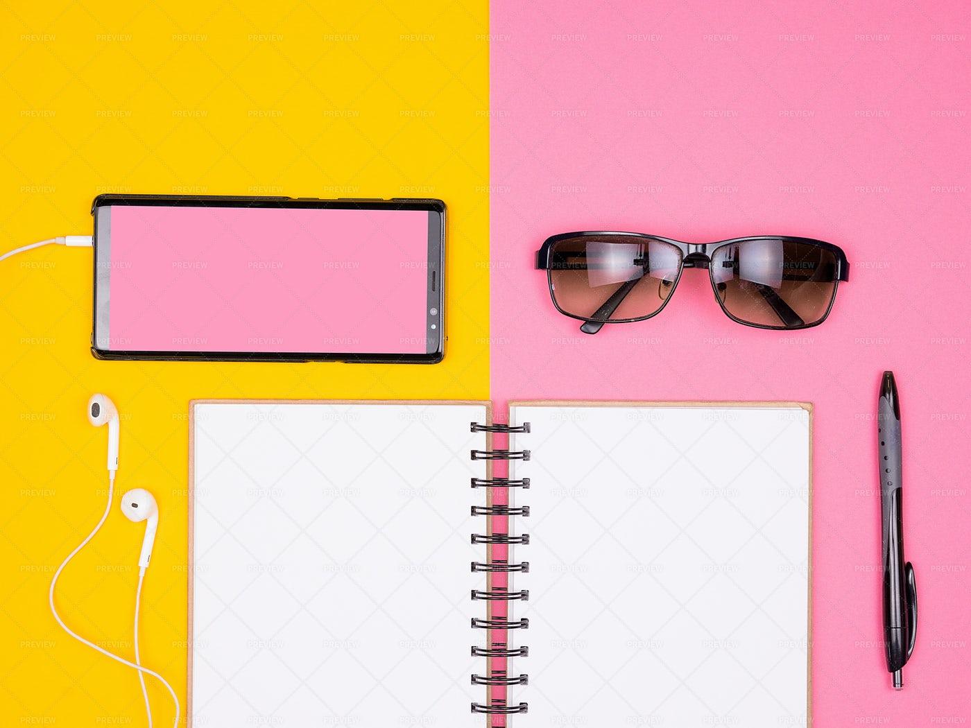 Open Paper Notebook Next To A Pen: Stock Photos
