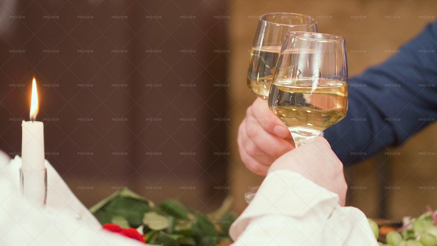 Wine Over Dinner: Stock Photos