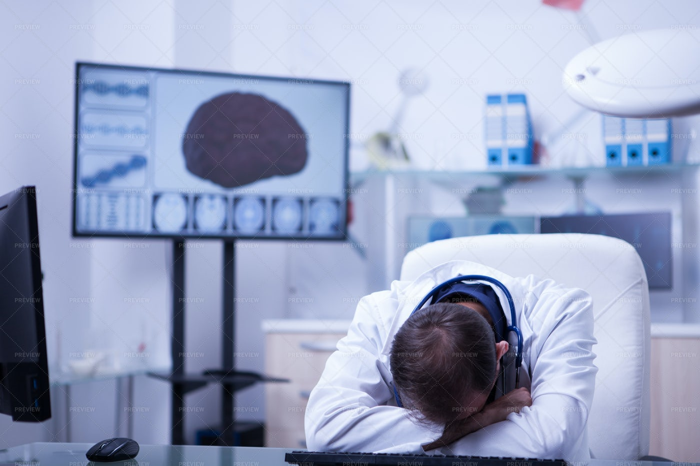 Tired Doctor: Stock Photos