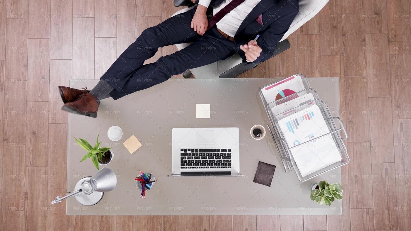 Lounging Businessman: Stock Photos