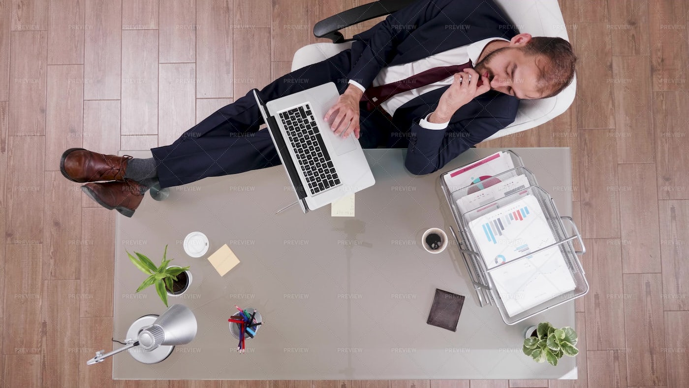Top View Of Businessman In Suit: Stock Photos