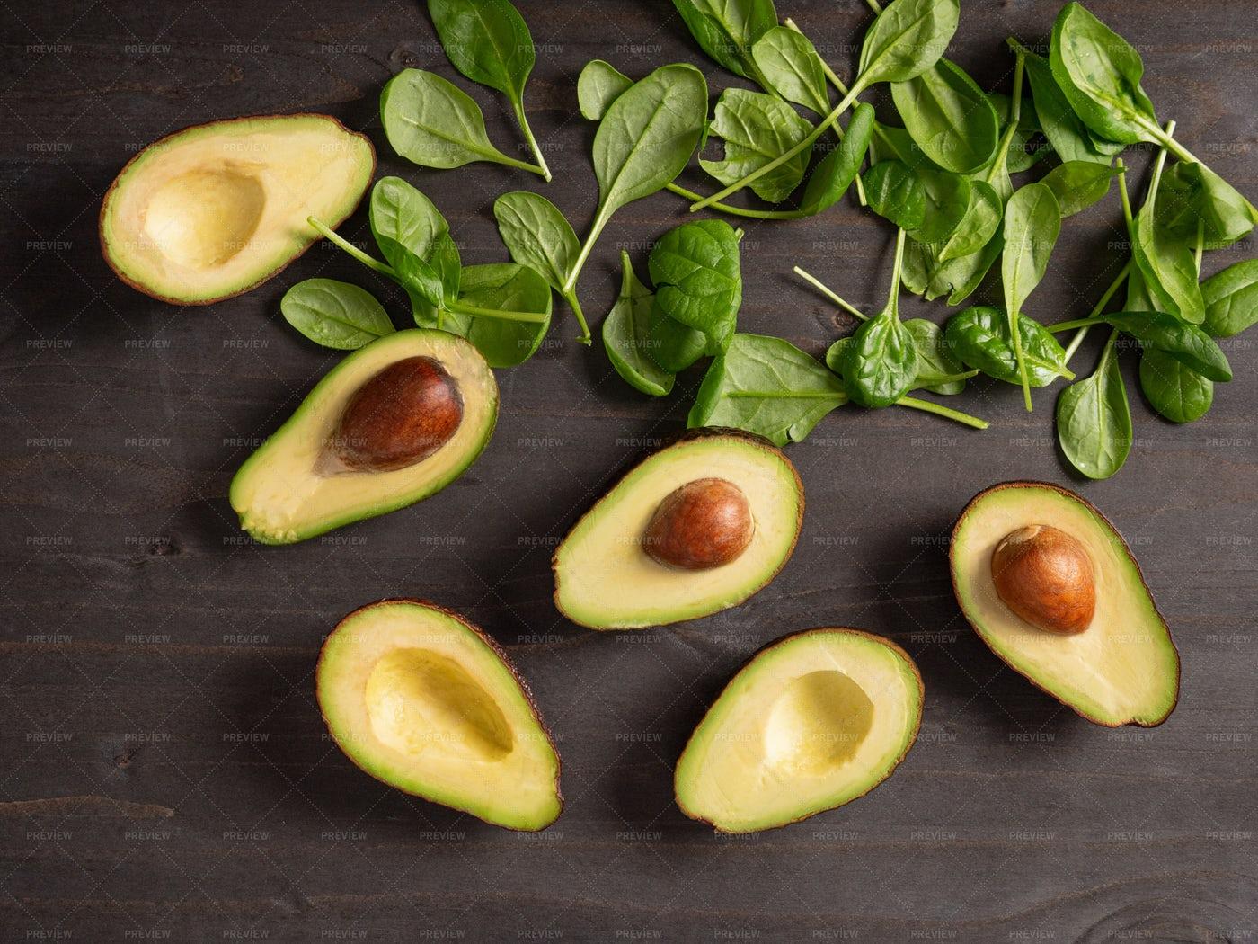 Spinach And Avocados: Stock Photos