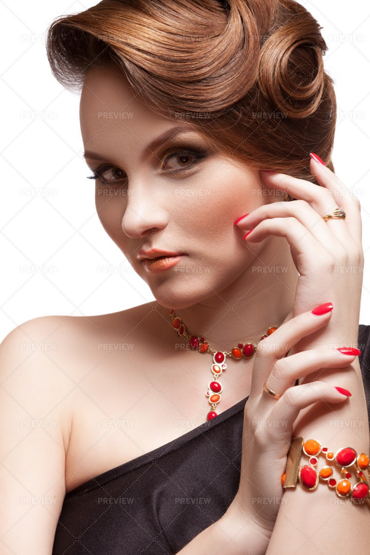 Woman With Fashion Hairstyle: Stock Photos
