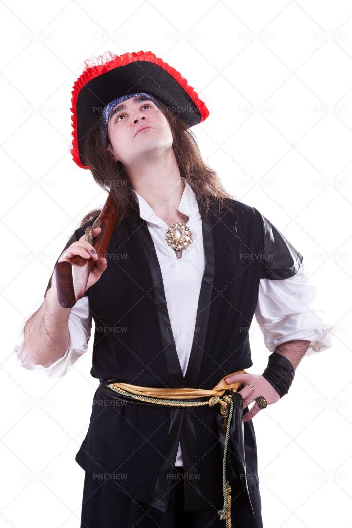Pirate Looking Up: Stock Photos