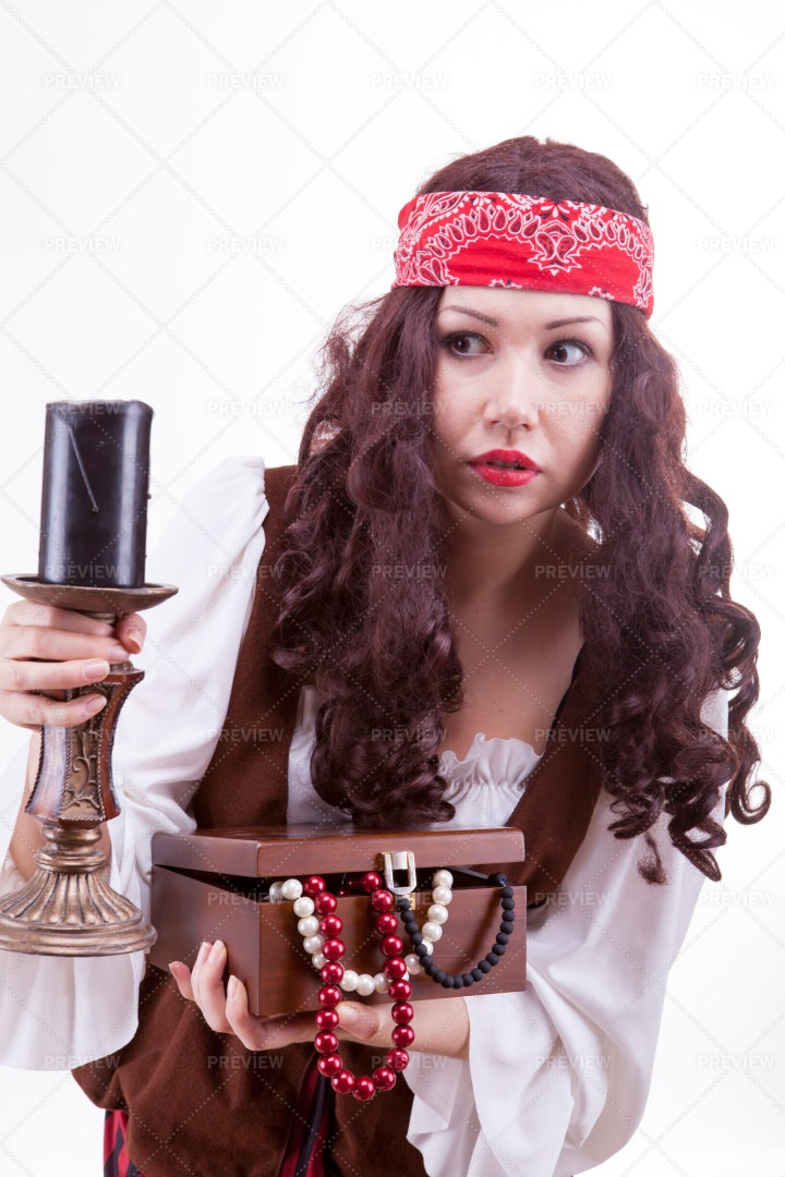 Pirate With Treasure: Stock Photos