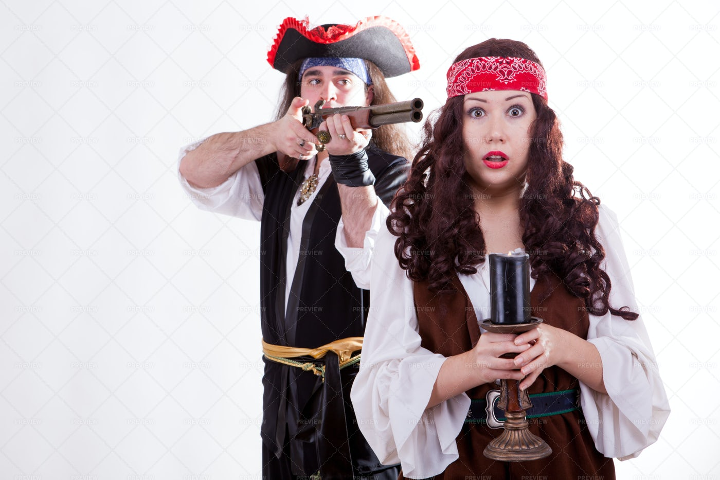 Double-Crossing Pirate: Stock Photos
