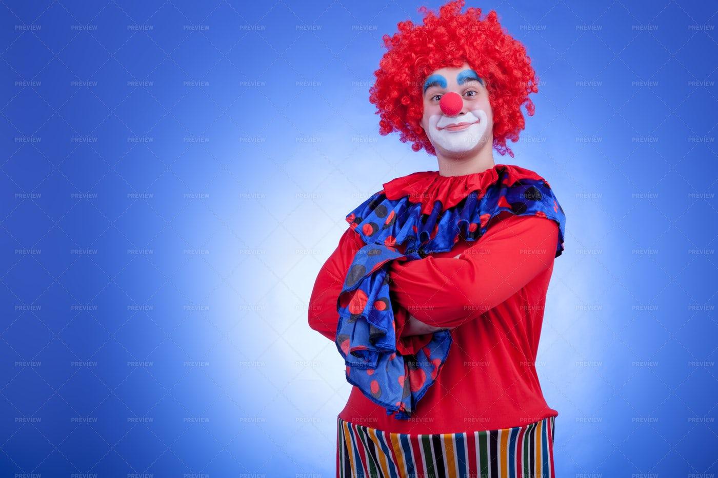 Crossed Arm Clown: Stock Photos