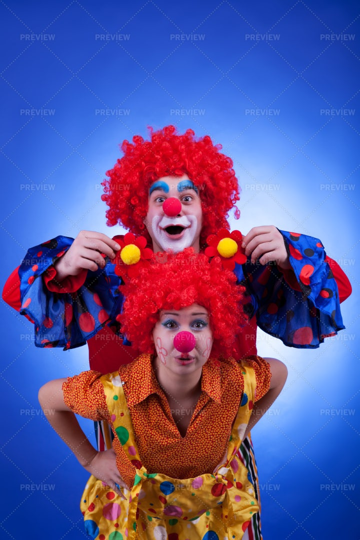Silly Clowns: Stock Photos