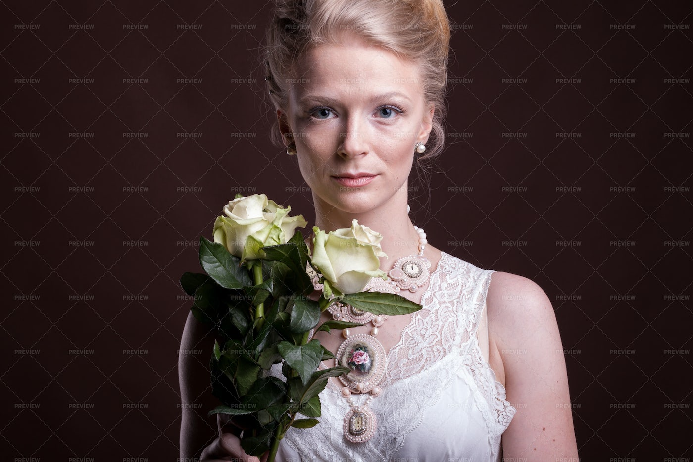 Gorgeous Woman In Victorian Style: Stock Photos