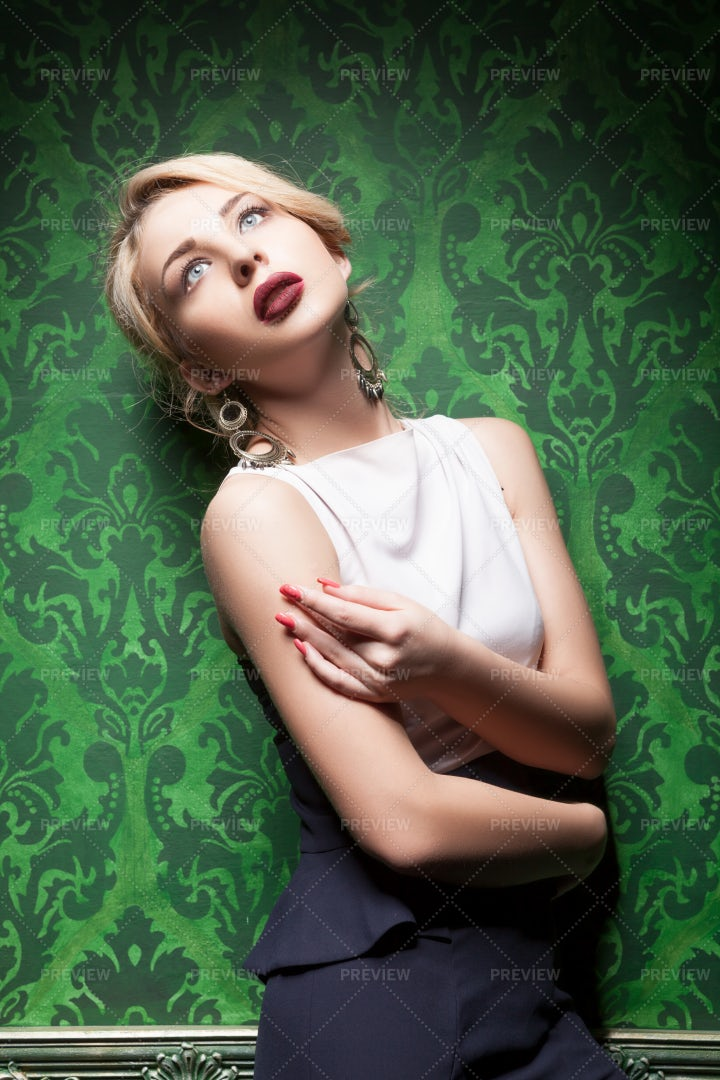 Woman In Cocktail Dress: Stock Photos