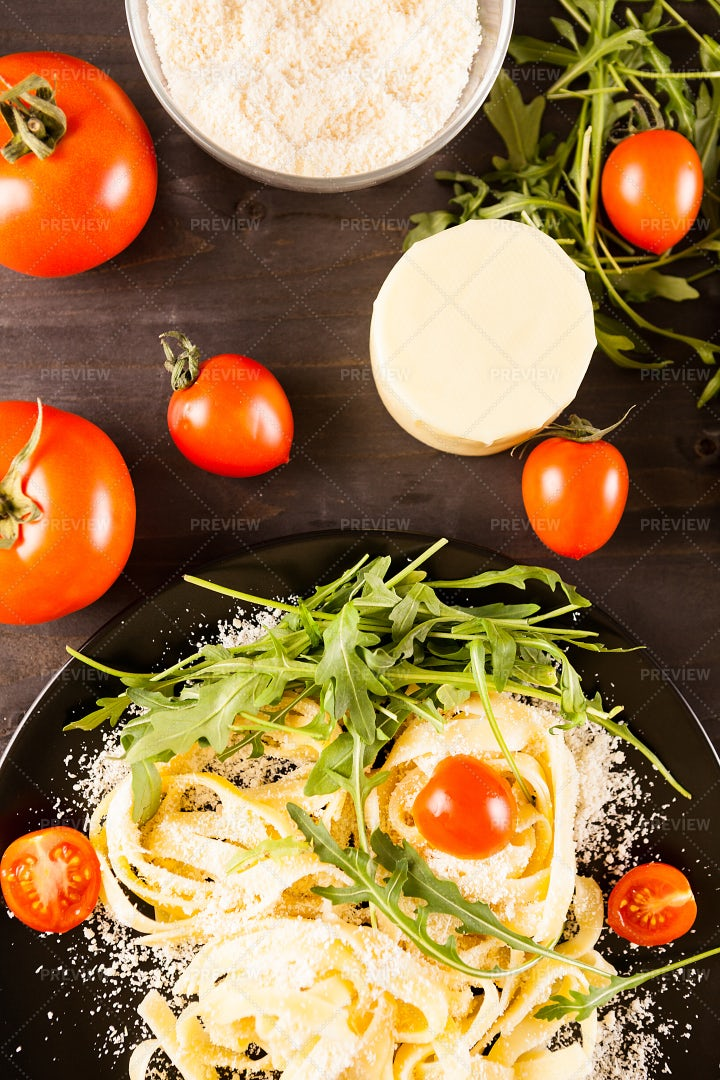 Pasta And Tomatoes: Stock Photos